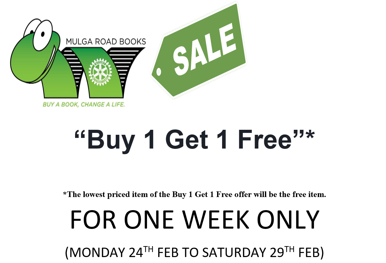 Buy one book get one free from the 24th - 29th of February